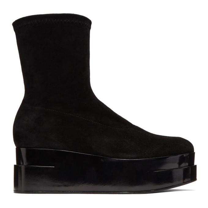 CLERGERIE PARIS | Clergerie Black Suede Laissa 2 Boots | Goxip