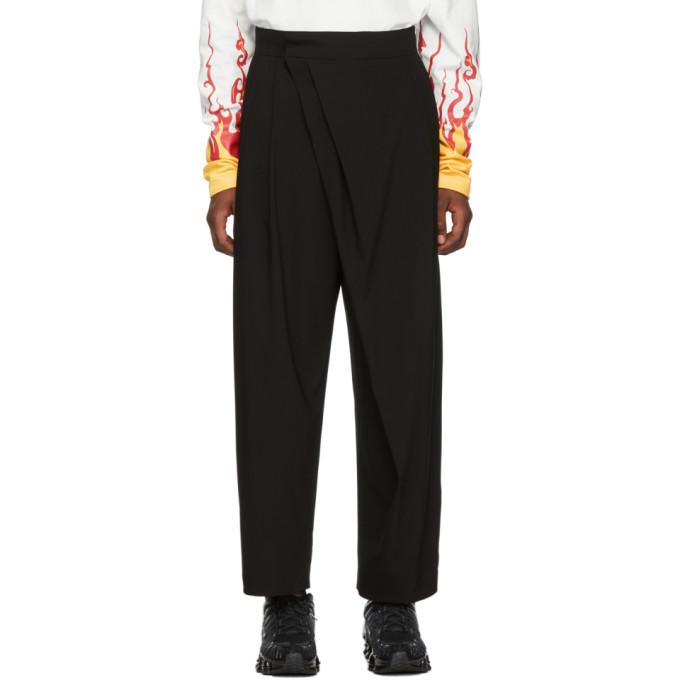 D.Gnak by Kang.D Pantalon a jambe ample noir Overlap