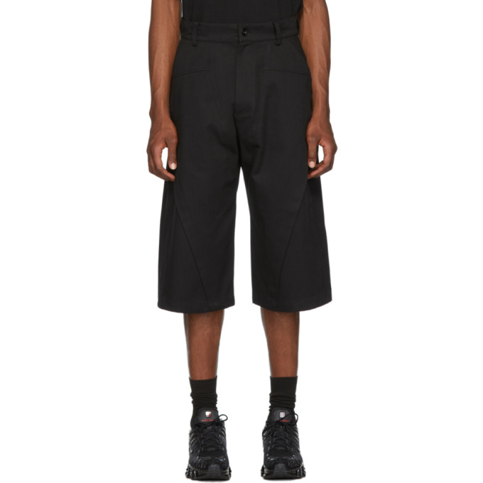 D.Gnak by Kang.D Pantalon noir Raw Diagonal Cut