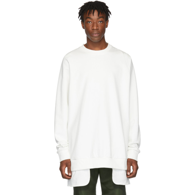 D.Gnak by Kang.D Pull molletonne blanc Layered