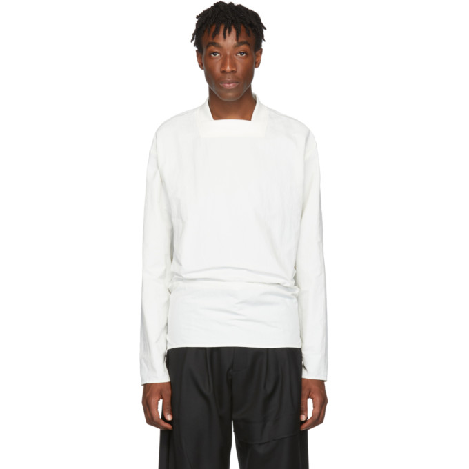 D.Gnak by Kang.D T-shirt a manches longues blanc Back Tie