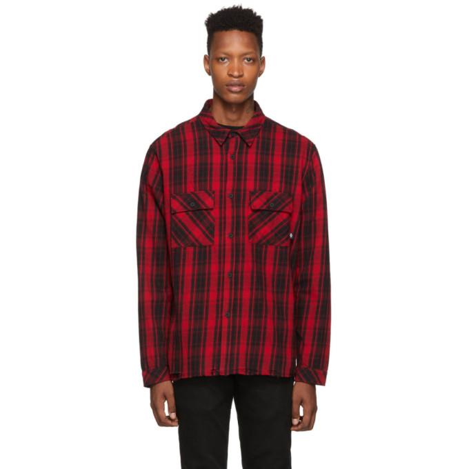 Marcelo Burlon County of Milan Chemise a carreaux rouge et noir