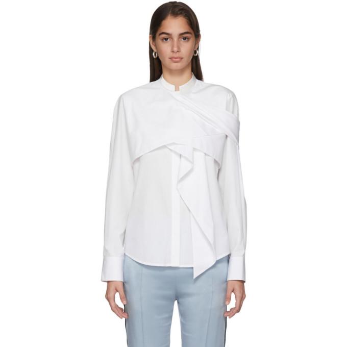 Haider Ackermann Chemise drapee blanche Byron