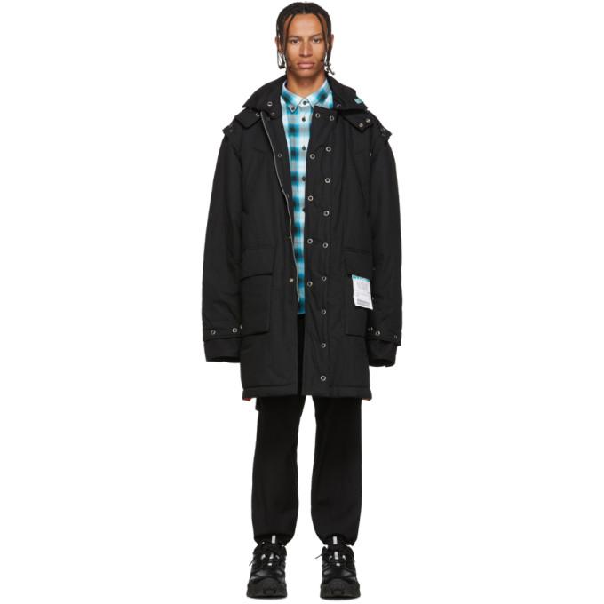 Miharayasuhiro Manteau amovible noir