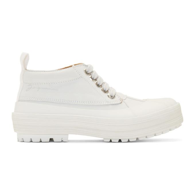 Jacquemus White Les Meuniers Boots
