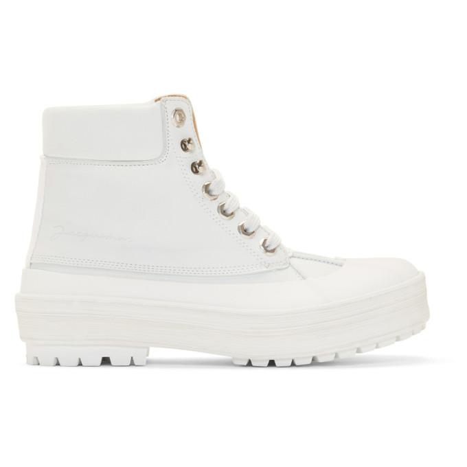 Buy Jacquemus White Les Meuniers Hautes Boots online