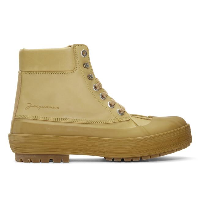 Jacquemus Tan Les Meuniers Hautes Boots