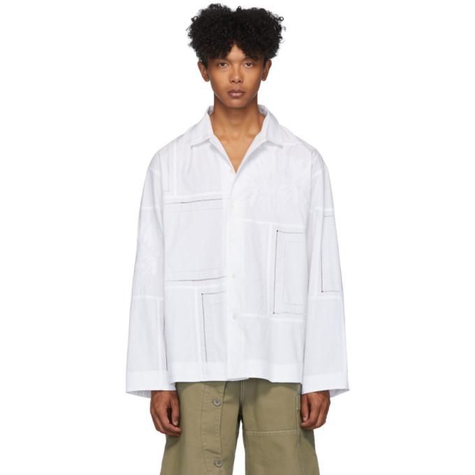 Jacquemus Chemise a manches longues blanche La Chemise Mouchoirs