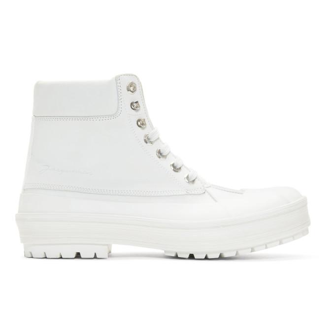 Jacquemus White Les Meuniers Hautes Boots