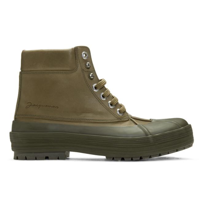 Jacquemus Khaki Les Meuniers Hautes Boots