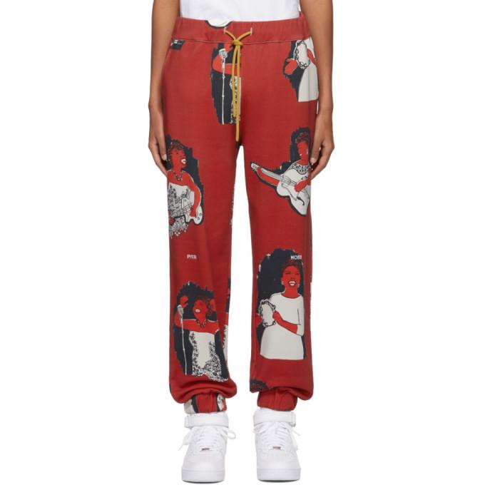 Pyer Moss Pantalon de survetement rouge AOP Jogger