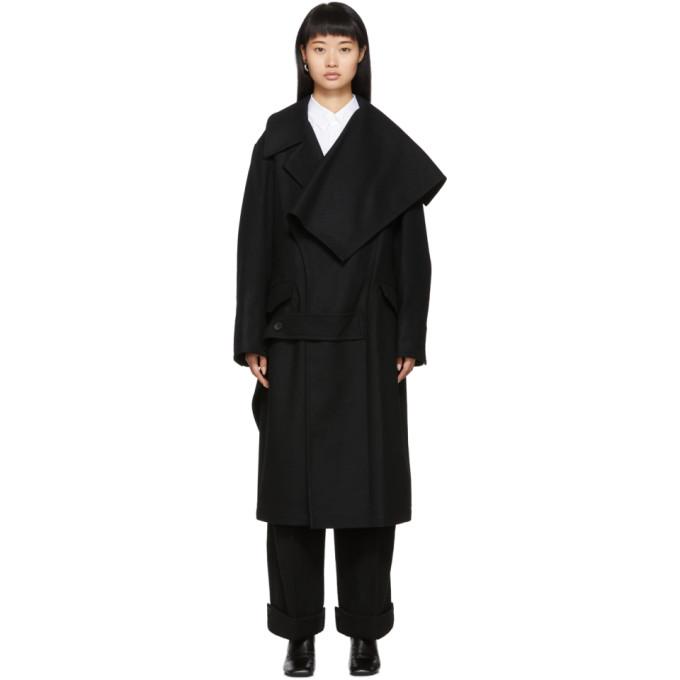 Yohji Yamamoto Manteau noir Left Collar Big