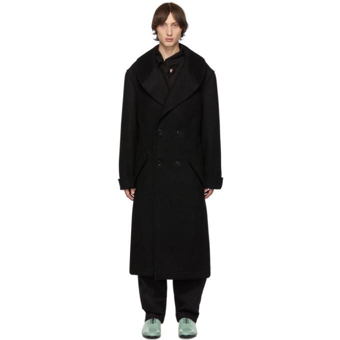 Yohji Yamamoto Manteau a col chale noir
