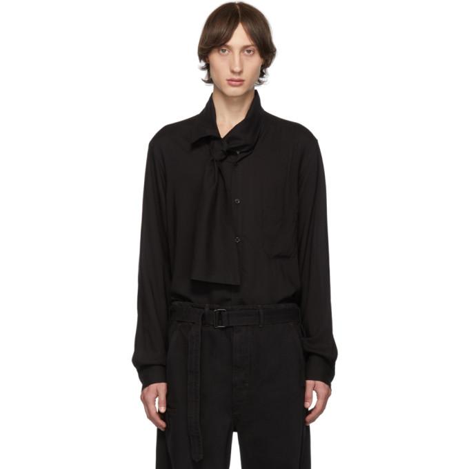 Yohji Yamamoto Chemise noire Collar Stole