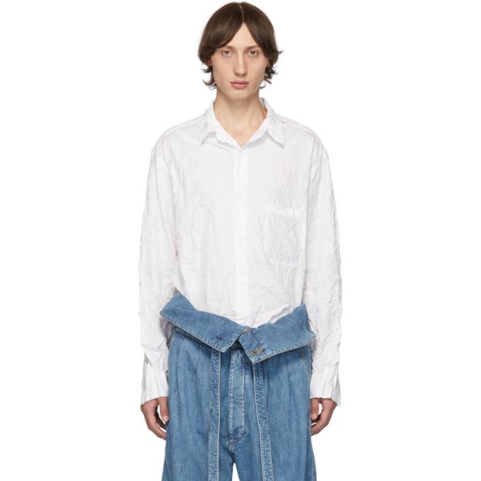 Yohji Yamamoto Chemise froissee blanche