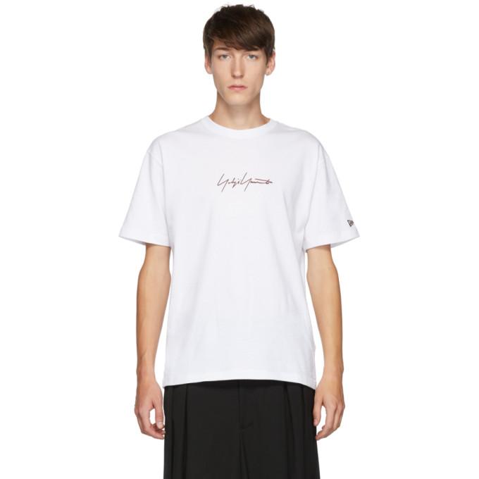 Yohji Yamamoto T-shirt a manches courtes blanc edition New Era