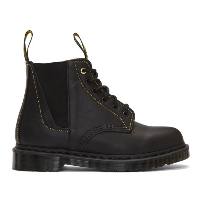 Yohji Yamamoto Black Dr. Martens Edition Lace-Up Boots