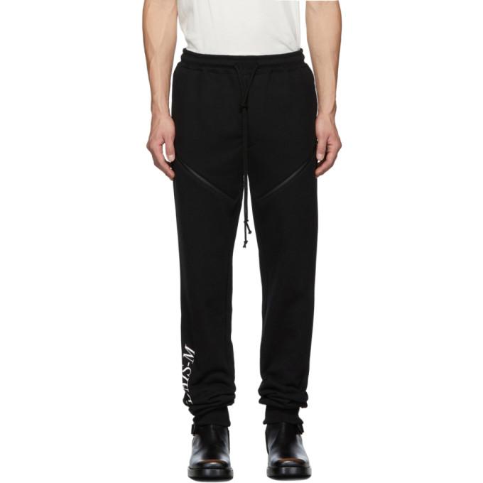 Christian Dada Pantalon de survetement a glissieres noir