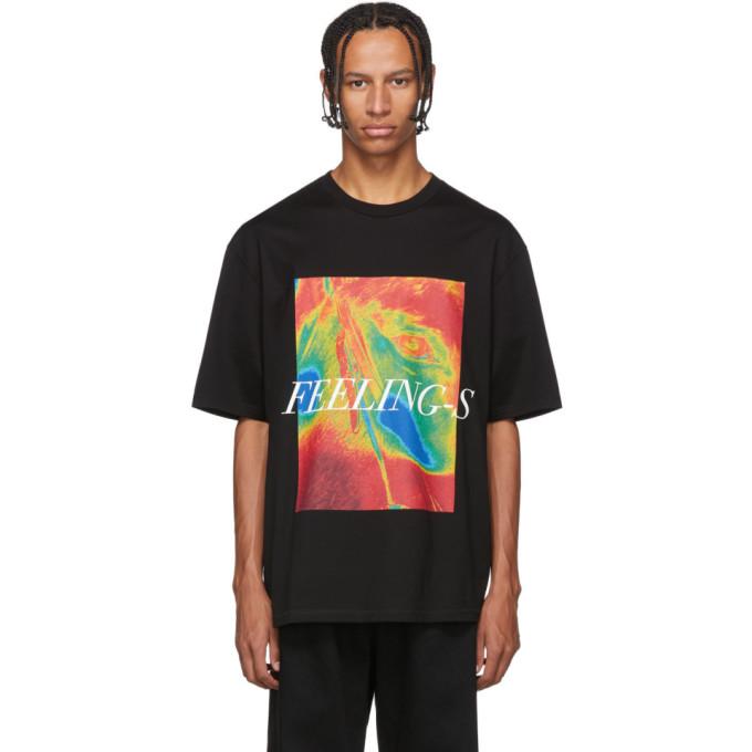 Christian Dada T-shirt noir Feelings
