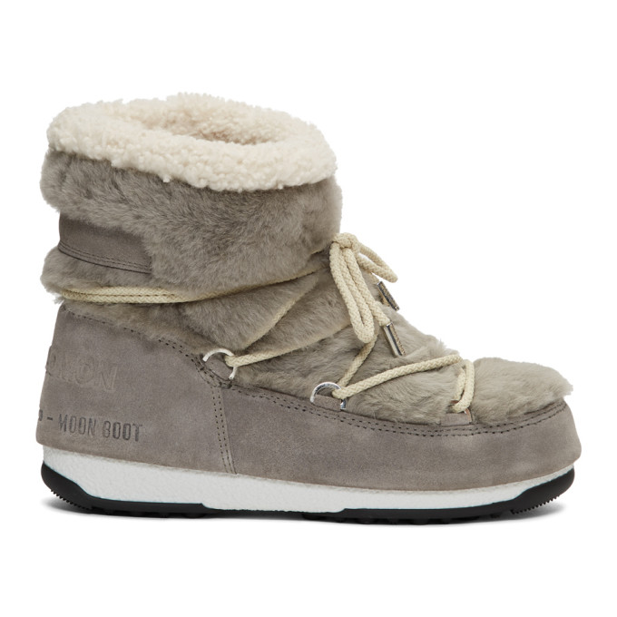Buy Yves Salomon Grey Moon Boot Edition Shearling Boots online