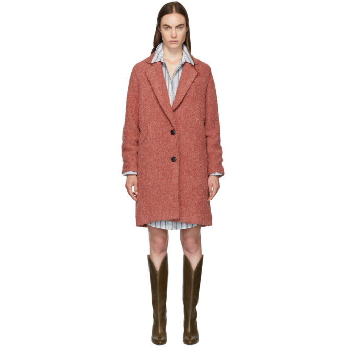 Isabel Marant Etoile Manteau en boucle rose Dante