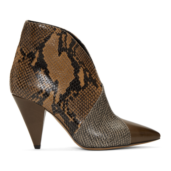 Isabel Marant Taupe Archenn Boots