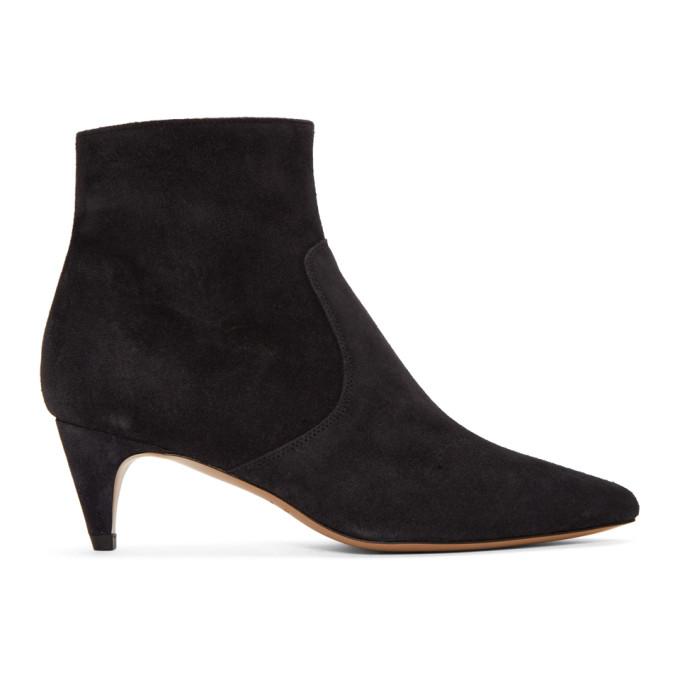 Isabel Marant Black Suede Derst Boots