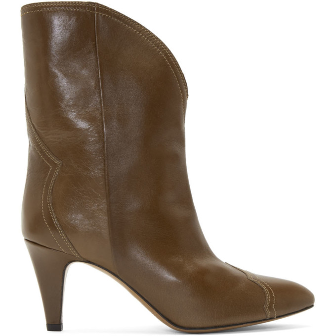 Isabel Marant Brown Shiny Dythey Boots