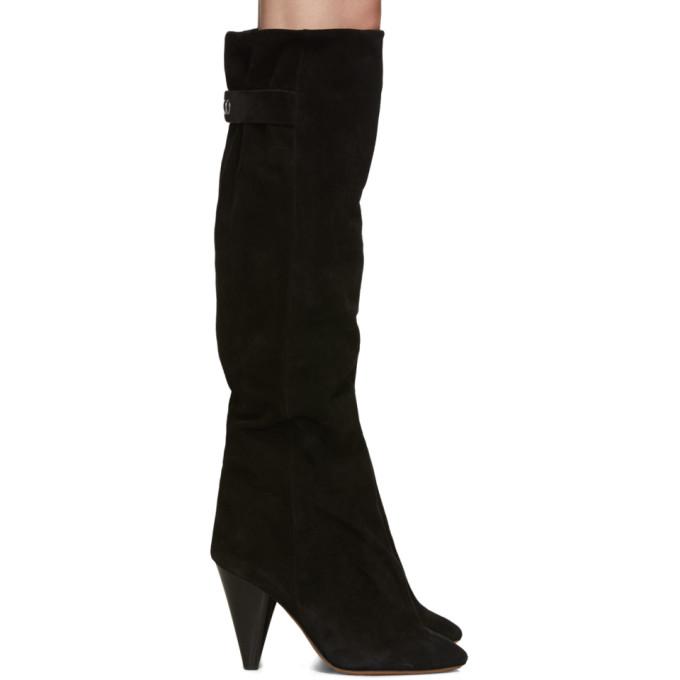 Isabel Marant Black Suede Lacine Boots