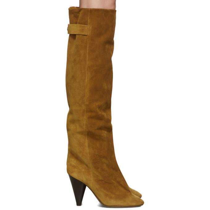 Isabel Marant Brown Suede Lacine Boots