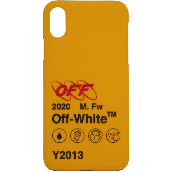 brand new 168bb ab892 Off-White Yellow Industrial Y013 Iphone X Case