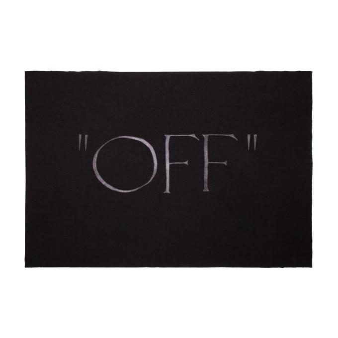 Off-White ブラック ブランケット ポンチョ