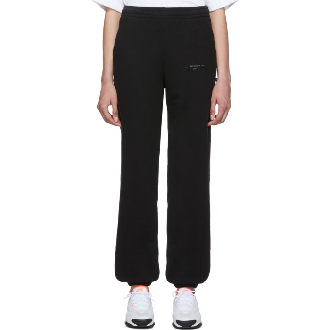 Off-White Black And Silver Unfinished Slim Lounge Pants In Blk/Silver