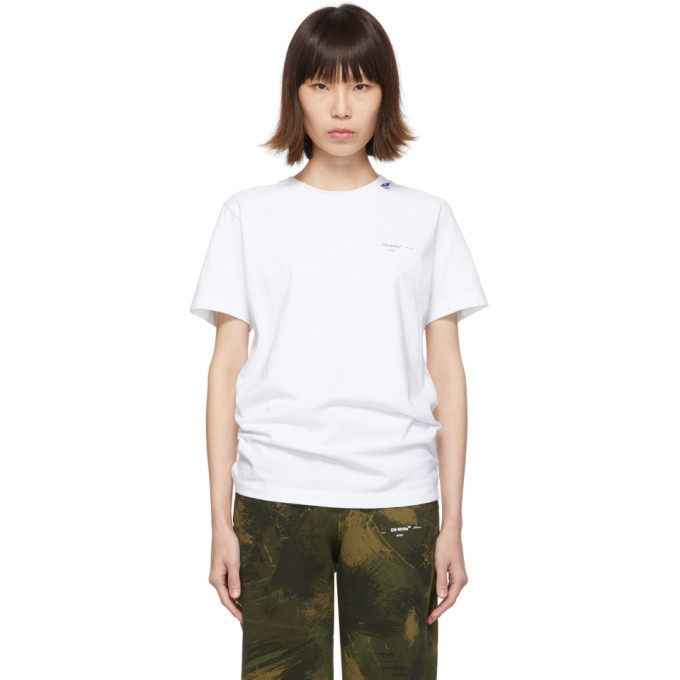 Off-White White Unfinished Slim T-Shirt In Wht/Silver