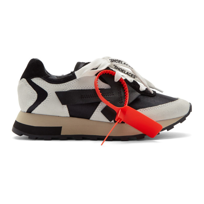 Off-White White and Black HG Runner Sneakers