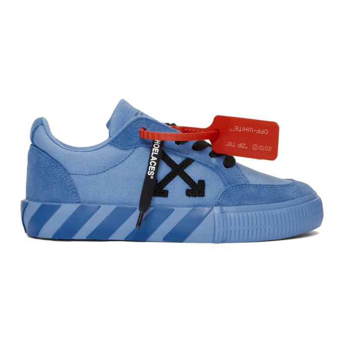 Off-White Blue Low Vulcanized Sneakers
