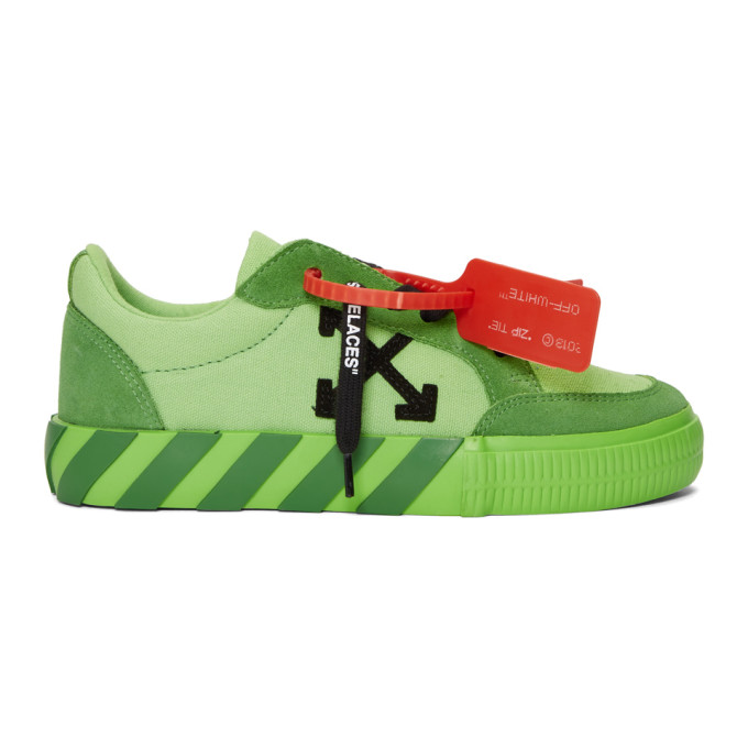 Off-White Green Low Vulcanized Sneakers