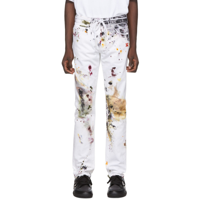 Off-White White Dirty Jeans