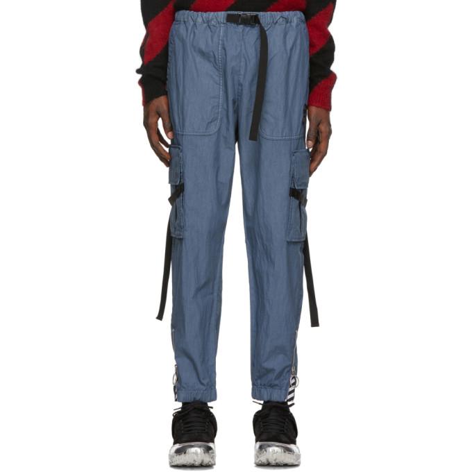 Off-White Blue Parachute Cargo Pants