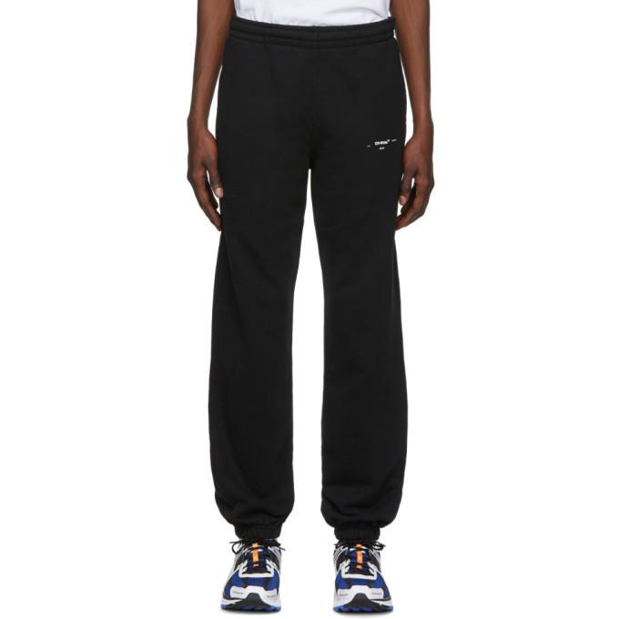 Off-White Pants OFF-WHITE BLACK AND WHITE LOGO SLIM LOUNGE PANTS