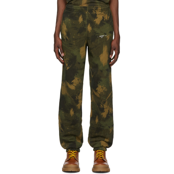Off-White Pants OFF-WHITE GREEN PAINTBRUSH CAMO LOUNGE PANTS