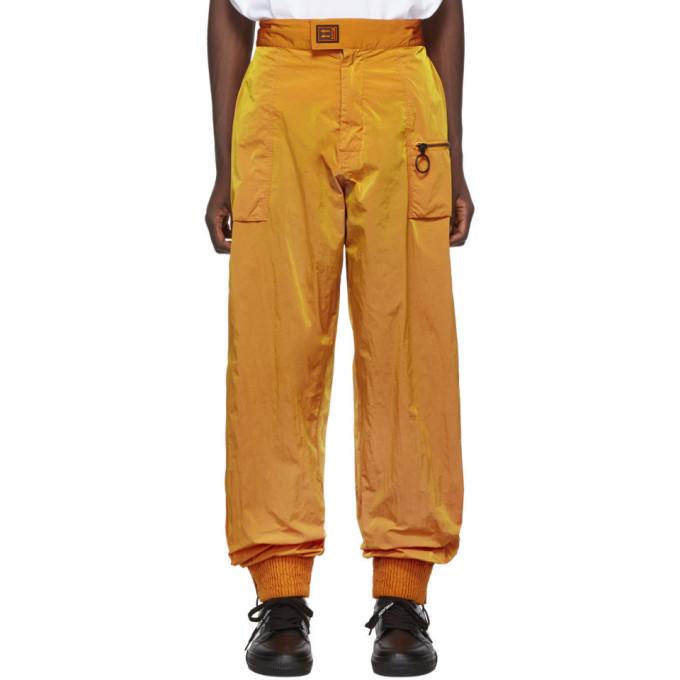 Off-White Orange Nylon Track Pants