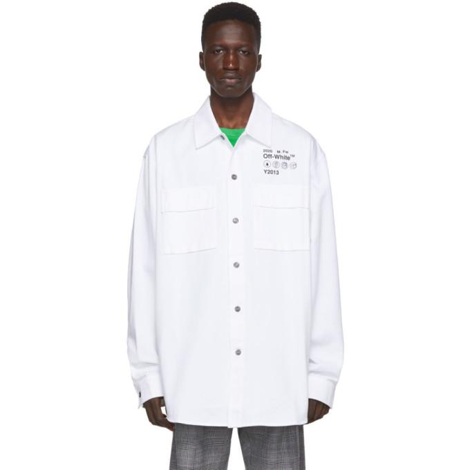 Off-White White Gabardine Shirt