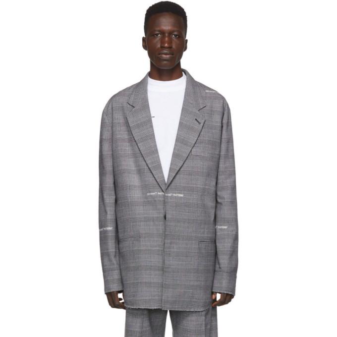 Off-White Blazer en laine gris Shirt