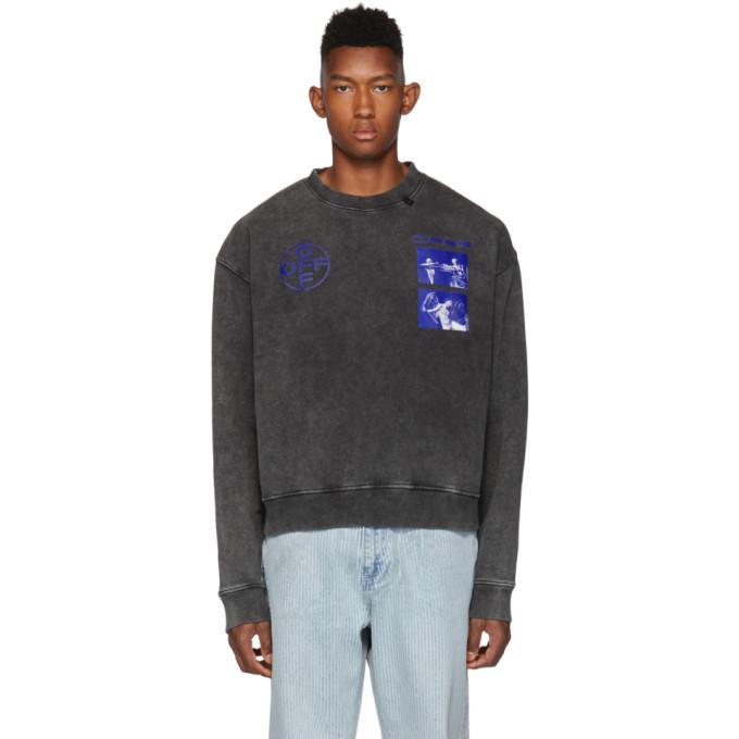 Off-White Black and Blue Hardcore Caravaggio Sweatshirt