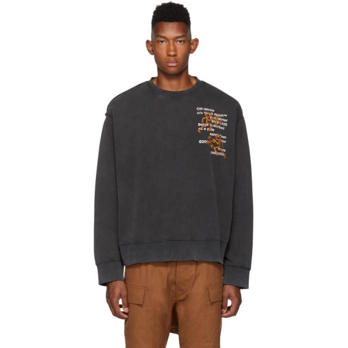 Off-White Black Pictogram Incompiuto Sweatshirt
