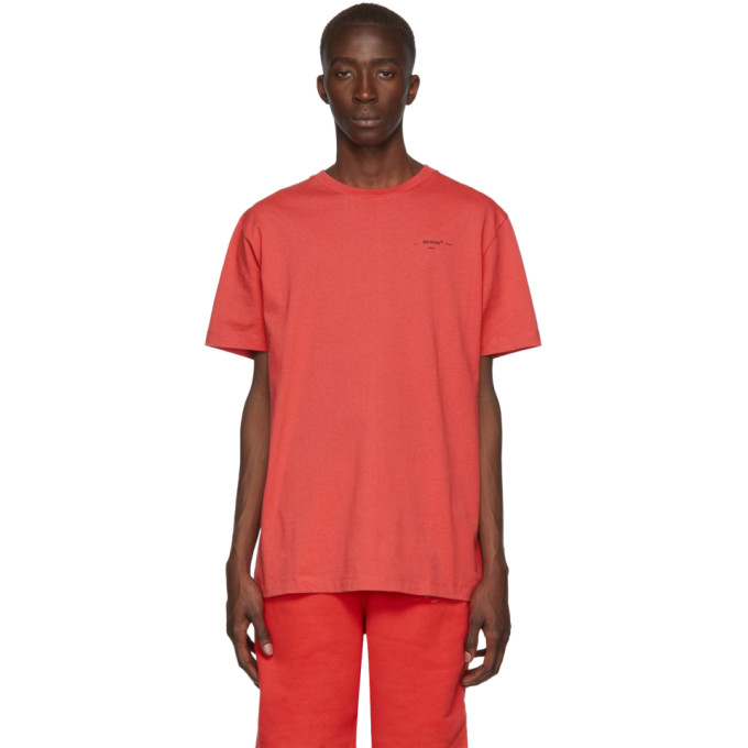 Off-White T-shirts OFF-WHITE RED LOGO SLIM T-SHIRT