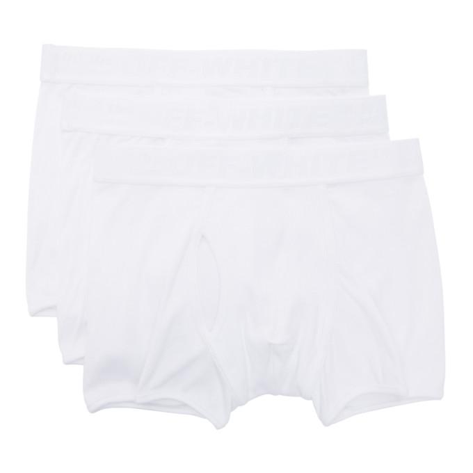 Off-White Ensemble de trois boxers blancs Industrial Tape
