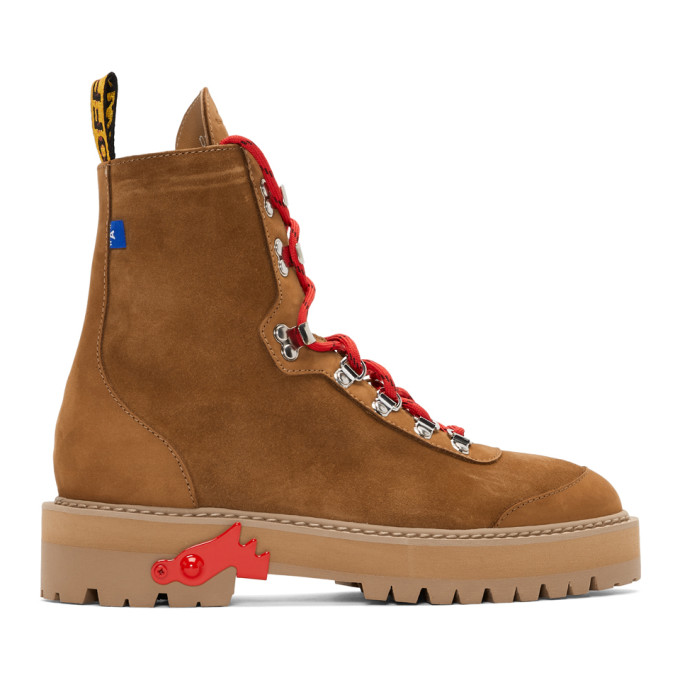 Off-White Brown Hiking Boots