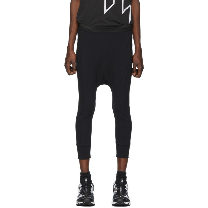 11 by Boris Bidjan Saberi Black Long John Lounge Pants